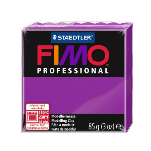 Полимерная глина FIMO Professional запекаемая 85 г чисто-пурпурный (8004-210), Глина  - купить со скидкой