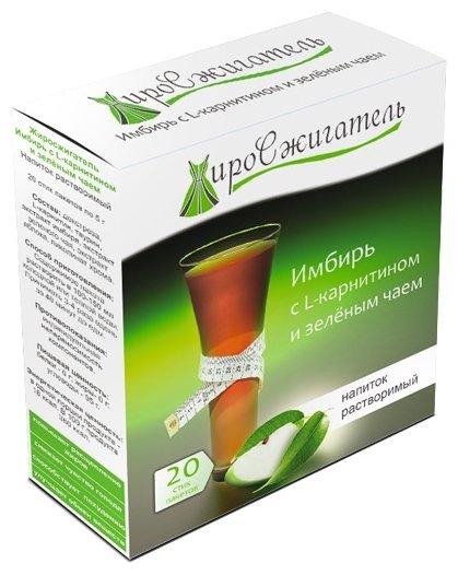 """Жиросжигатель """"Имбирь с L-карнитином и зеленым чаем"""" напиток растворимый, 20 стик/п. х 5,0 г"""