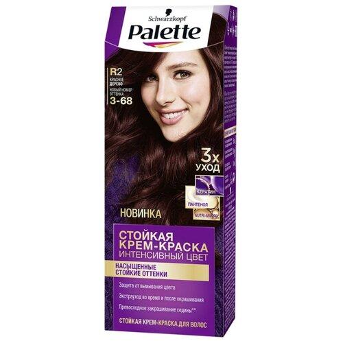 Palette Интенсивный цвет Стойкая крем-краска для волос, R2 3-68 Красное дерево стойкая крем краска фитокосметик fitocolor для волос 5 6 красное дерево 125мл