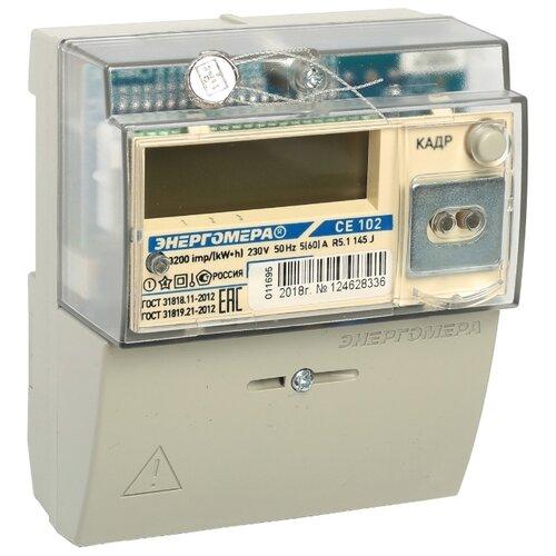 Фото - Счетчик электроэнергии однофазный многотарифный Энергомера CE 102 R5.1 145 J 5(60) А счетчик электроэнергии однофазный многотарифный incotex меркурий 206 rn 5 60 а