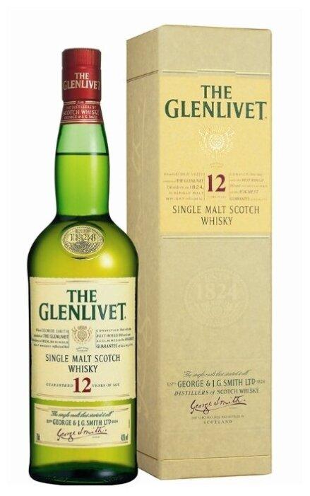 Виски The Glenlivet 12 лет, 0.7 л, подарочная упаковка