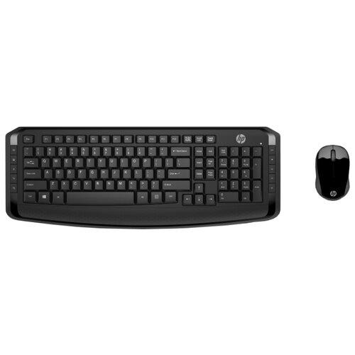 Клавиатура и мышь HP 3ML04AA Wireless Keyboard and Mouse 300 Black USB hp x900 wired mouse black мышь