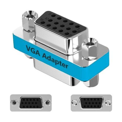 Переходник Vention VGA - VGA (DDCI0) голубойКомпьютерные кабели, разъемы, переходники<br>