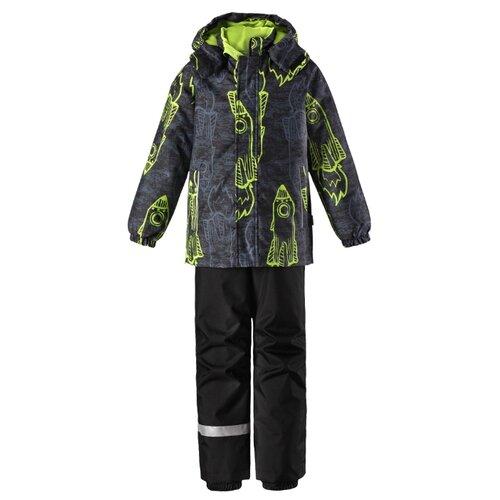 Комплект с брюками Lassie размер 92, 8311 зеленый/серый