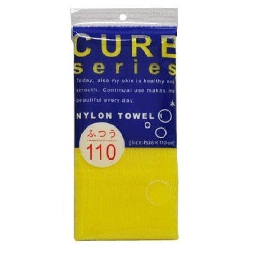 Мочалка OH:E Cure series средней жесткости (110 см) желтая