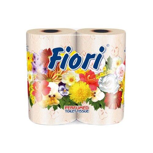 Купить Туалетная бумага Aster Fiori персиковая трёхслойная, 4 рул.