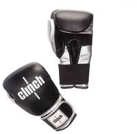 Боксерские перчатки Clinch Prime черный/серебристый 14 oz
