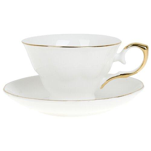Best Home Porcelain Чайная пара Белый танец 220 мл (подарочная упаковка)