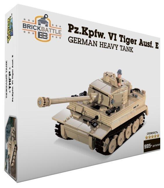 Купить Конструктор Город Игр BrickBattle GI-6743 Танк Тигр по низкой цене с доставкой из Яндекс.Маркета (бывший Беру)