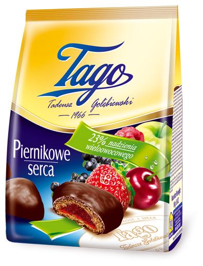 Пряники глахированные Tago с фруктовой начинкой, 160 г