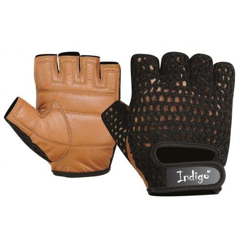Перчатки Indigo «Кожа+Сетка» SB-16-1967 черно-коричневый MПерчатки<br>