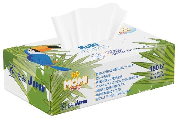 """Бумажные салфетки Momi """"Family Kuki"""", двухслойные, 180 штук"""
