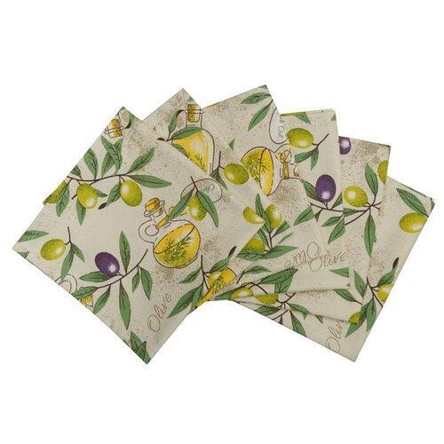 Салфетка Fresca Design Оlives 33х33 см бежевый/желтый/зеленый/фиолетовыйСкатерти и салфетки<br>