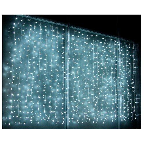 Гирлянда Sh Lights Занавес 150 х 250 см OLDCL500, 500 ламп, белые диоды/прозрачный провод гирлянда sh lights 250 см