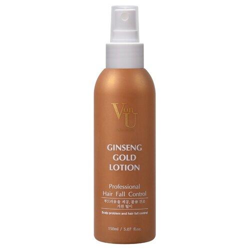 Von-U Лосьон для роста волос с экстрактом золотого женьшеня Ginseng Gold Lotion 150 мл