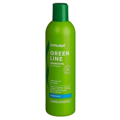 Фото - Concept шампунь Green Line От перхоти 300 мл concept восстанавливающее масло двойное действие 10 10 мл concept green line