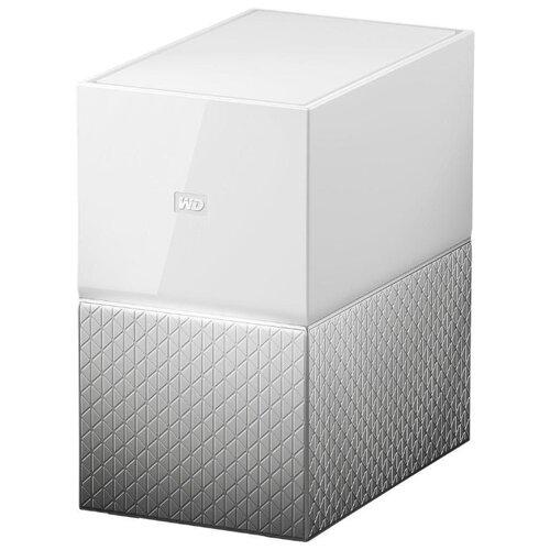 Сетевой накопитель (NAS) Western Digital My Cloud Home Duo 4 TB (WDBMUT0040JWT) белый / серый