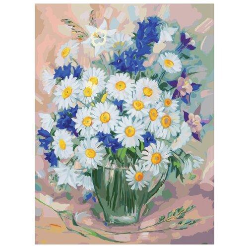 Купить Белоснежка Картина по номерам Ромашки 30х40 см (757-AS), Картины по номерам и контурам