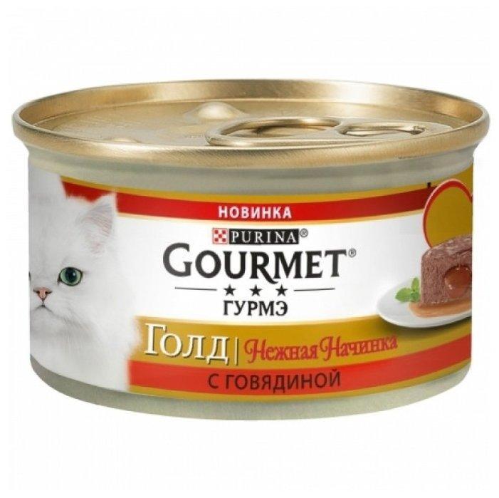 Корм для кошек Gourmet Голд с говядиной 85 г (паштет) — цены на Яндекс.Маркете