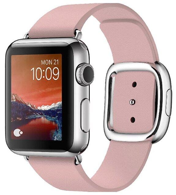 Karmaso Ремешок для Apple Watch 38 мм с застежкой розовый