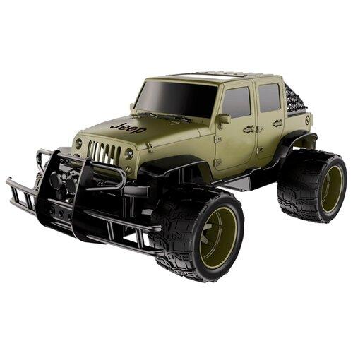 Купить Внедорожник Double Eagle Jeep Wrangler Cross-Country (E319-003) 1:14 37 см зеленый, Радиоуправляемые игрушки