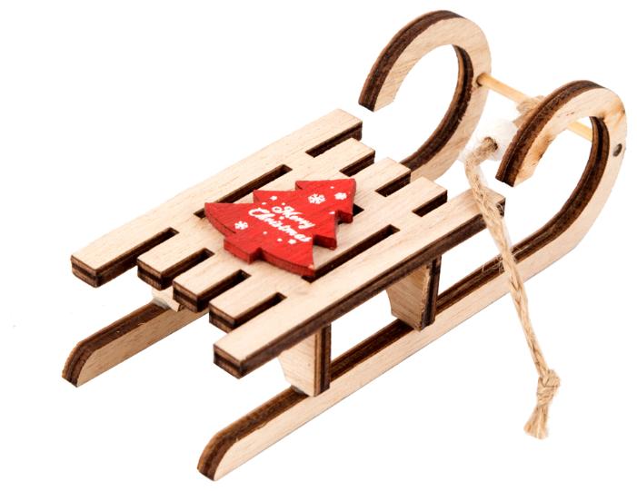 Елочная игрушка Русские подарки Сани (176837)
