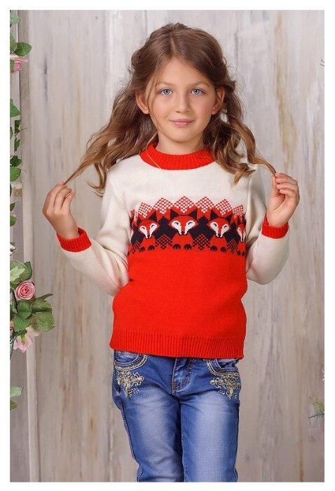 Джемпер Веснушки размер 110, красный