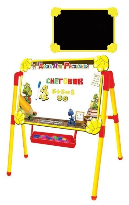Доска для рисования детская TONG DE двухсторонняя с подставкой (HD-K009A)