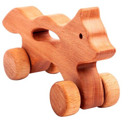 Купить Каталка-игрушка Волшебное дерево Лиса на колесах (54vd02-01) дерево, Каталки и качалки