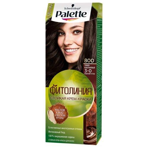 Palette Фитолиния Стойкая крем-краска для волос, 800 (3-0) Темно-каштановыйКраска<br>