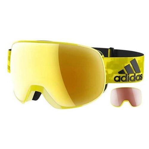 Маска adidas Progressor pro pack Shiny Bright Yellow/Gold Mirror Anti-fog/Lst Active Silver Anti-fog