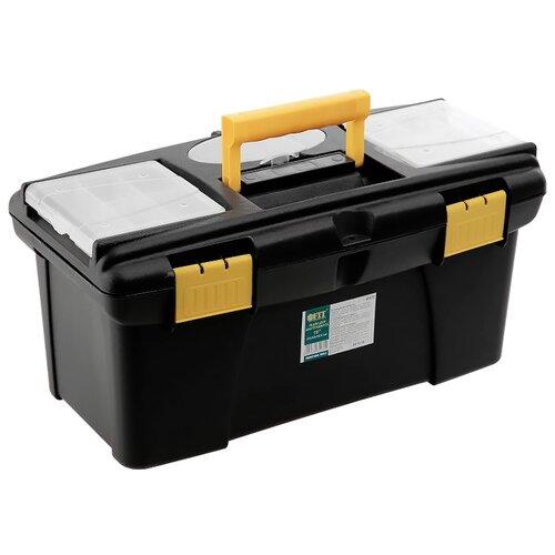 Ящик с органайзером FIT 65572 41x22x19.5 см 16'' черный/желтый ящик с органайзером stanley mega line cantilever 1 92 911 49 5x26 1x26 5 см черный желтый