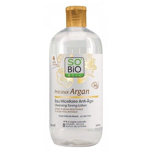 Купить Мицеллярная вода SO'BiO etic Précieux Argan Anti-aging micellar water антивозрастная для лица 500 мл, 500 мл