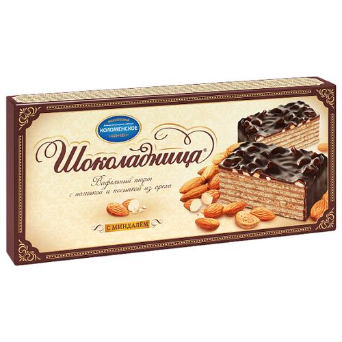 Торт Шоколадница вафельный с миндалем 270 г