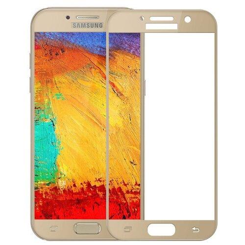Защитное стекло UVOO Full Screen для Samsung Galaxy A7 (2017) золотистый