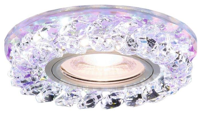 Встраиваемый светильник Ambrella light S257 PR, хром/перламутровый