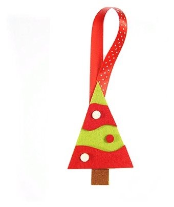 Елочная игрушка Feltrica Елка зеленый/красный