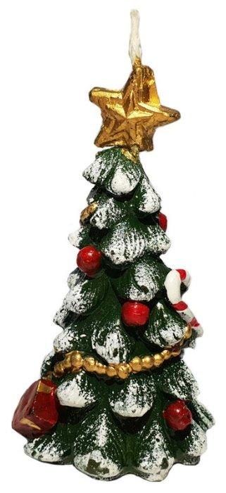 Свеча Феникс Present новогодняя Ёлочка с конфеткой (78321)