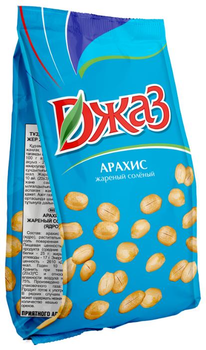 Арахис Джаз жареный соленый, пластиковый пакет 150 г