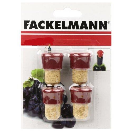 Пробка Fackelmann 49557 4 шт красный