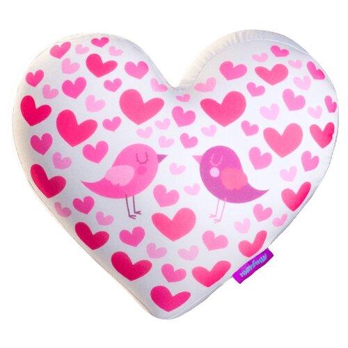 Купить Игрушка-антистресс Мнушки Сердце 3D Райские пташки 28 см, Мягкие игрушки
