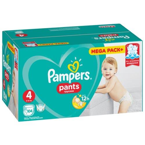 Купить Pampers трусики Pants 4 (9-15 кг) 104 шт., Подгузники