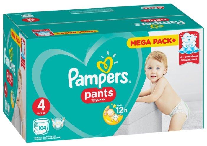 Pampers трусики Pants 4 (9-15 кг) 104 шт.