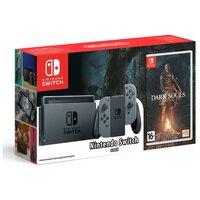Игровая приставка Nintendo Switch серый + Dark Souls: Remastered