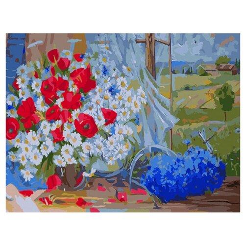 Купить Color Kit Картина по номерам Полевые цветы 40х50 см (CG654), Картины по номерам и контурам
