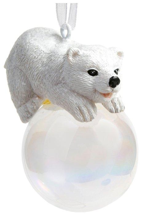 Елочная игрушка Magic Time Полярный мишка на шаре (78168)