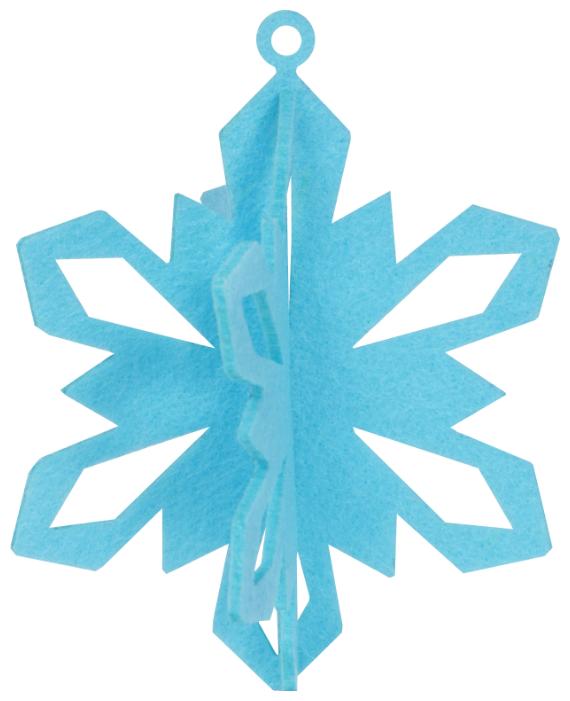 Елочная игрушка Feltrica 3D Снежинка голубой
