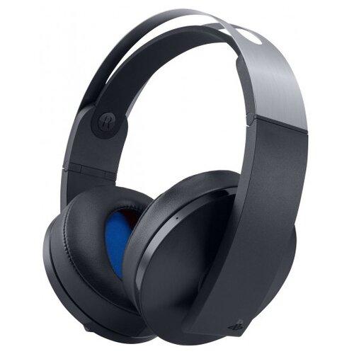 Sony Гарнитура беспроводная черная Platinum для PS4 (CECHYA-0090) черный/серебристый гарнитура