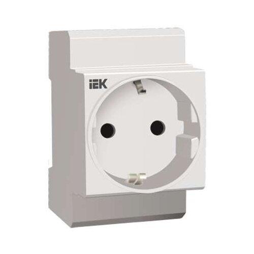 Розетка IEK MRD10-16,16А, с заземлением, серыйРозетки, выключатели и рамки<br>