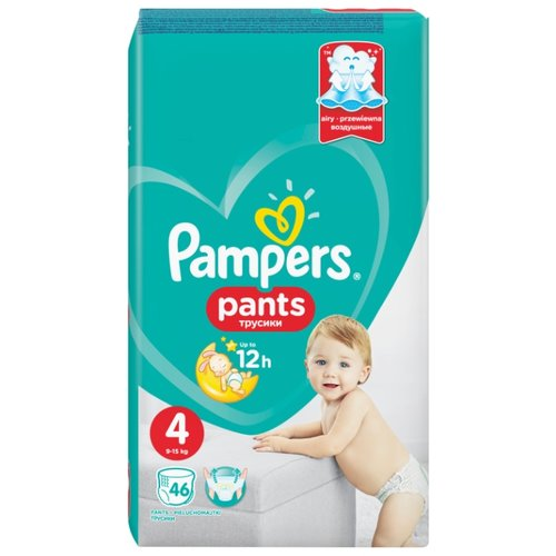 Pampers трусики Pants 4 (9-15 кг) 46 шт. подгузники pampers active baby dry 4 8 14 кг 147 шт
